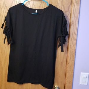 Tops - Boutique black shirt NWOT